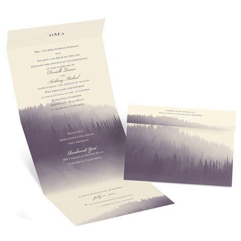 Watercolor Forest Seal and Send Invitation   Invitations