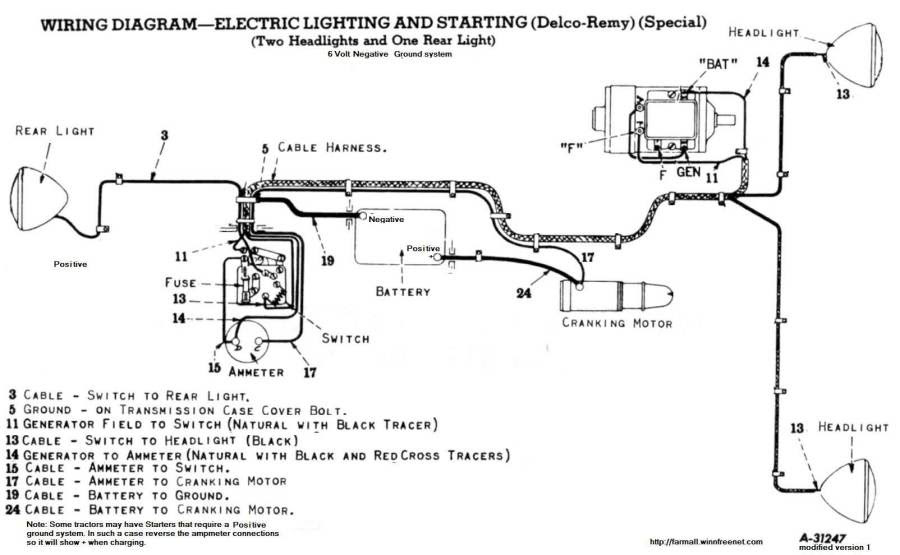 140 Farmall Wiring Diagram Regulator 12v