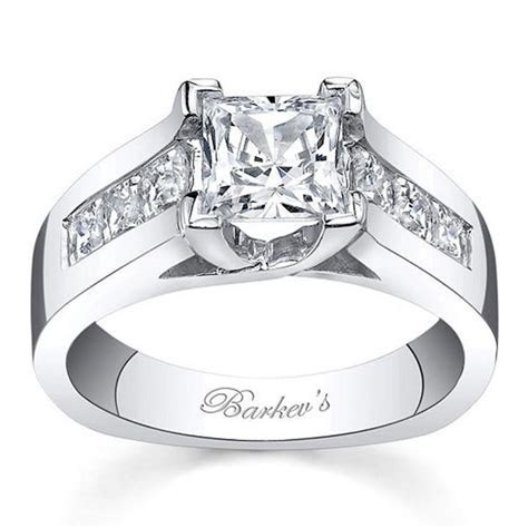 Barkev's 14K White Gold Cathedral Channel Set Diamond