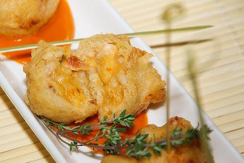 bolitas de arroz en tempura