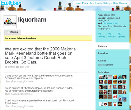 Liquor Barn Tweets