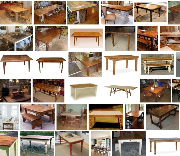 Building a Farmhouse Table in the Parsons Style - Crafty Devilish ...