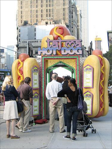 Taj Ma hot dog, Madison Sq. Park