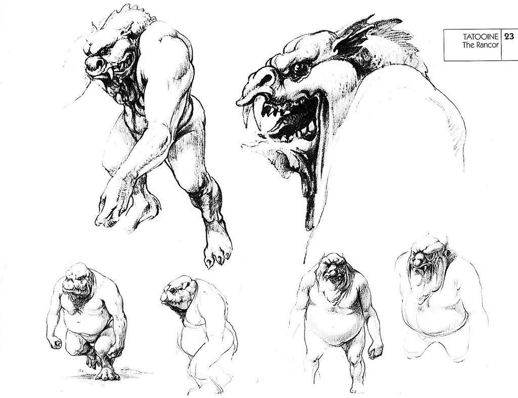 Ralph Mcquarrie - Rancor Sketches