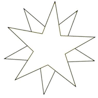 Malvorlage Stern zum Ausdrucken und Malen