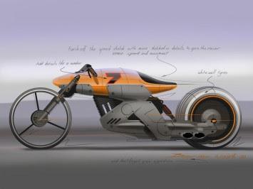 Cafe racer concept speed sketch demo - Car Body Design