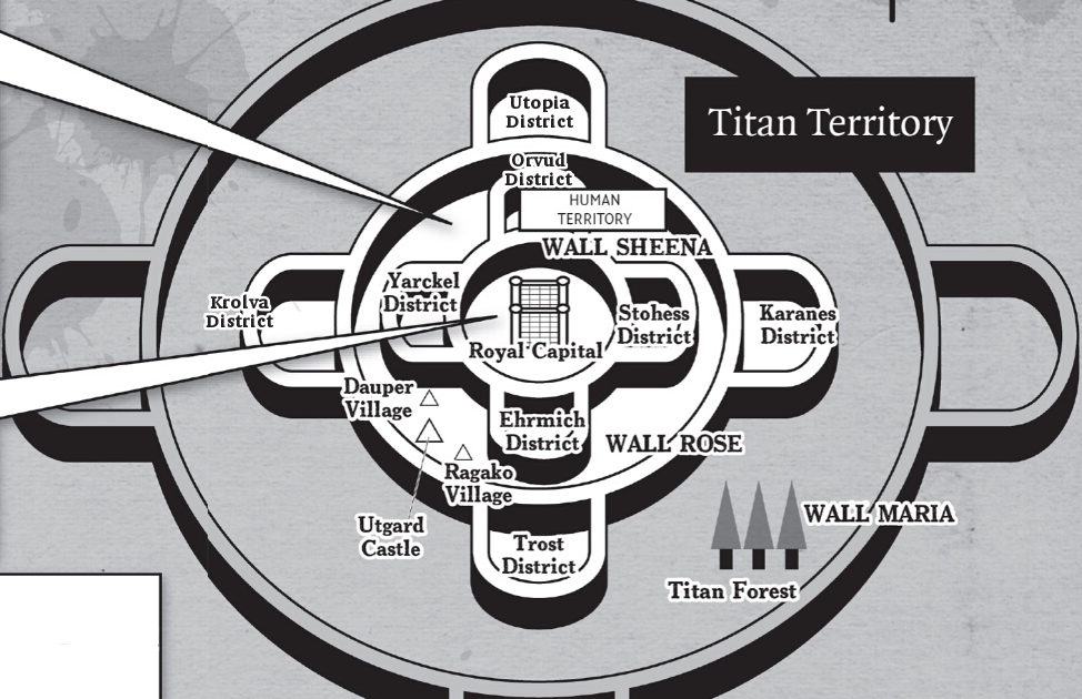 Attack On Titan Map Of Walls - Maping Resources