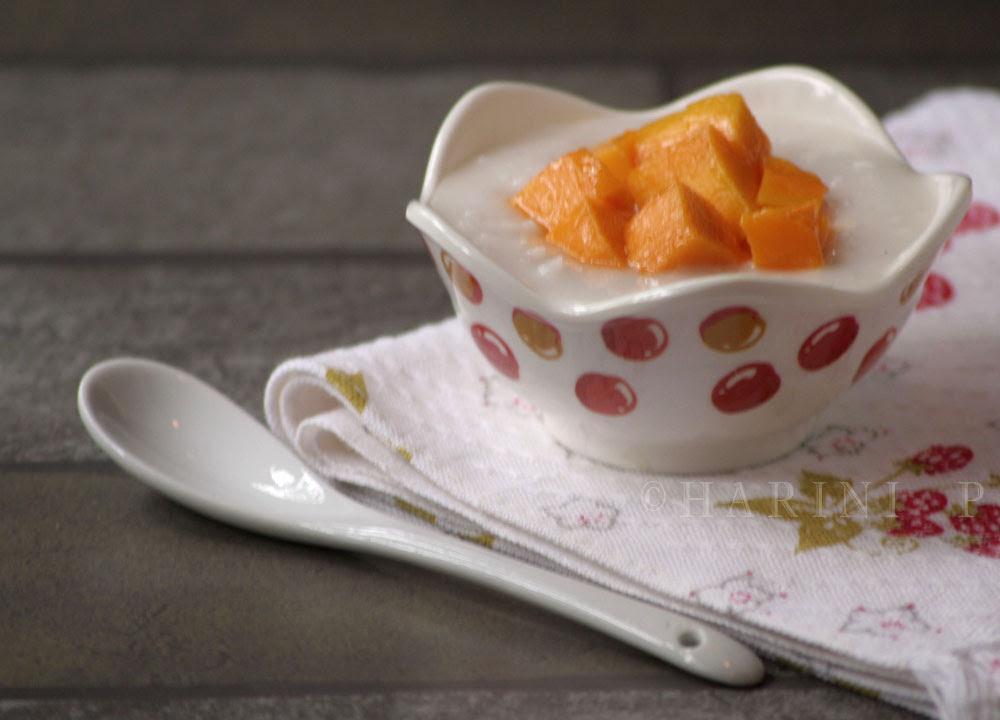 Thai mango sticky rice pudding