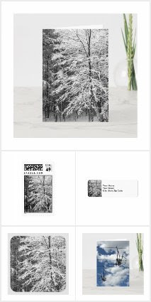 Winter Cards, Stamps, Labels, and Seals