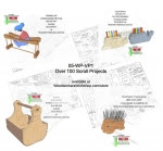 A Collection of over 100 Scrollsaw Woodworking Projects - fee plans from WoodworkersWorkshop® Online Store - scroll saw patterns,scrap wood,toys,patterns,drawings,woodworkers projects,workshop blueprints