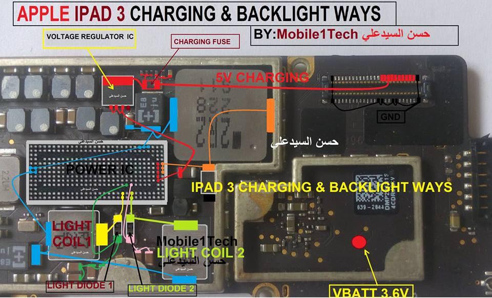 iPhone iPad 3 LCD Display Light IC Solution Jumper Problem Ways
