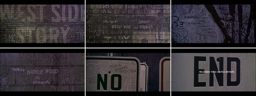 Saul Bass West side story 1961 title sequence