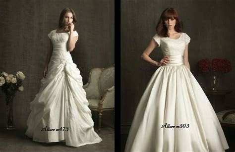 Allure Modest Bridal Ballgown Wedding Dresses  The Faux