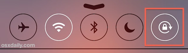 Stop screen rotation iOS 7 with Orientation Lock from Control Center