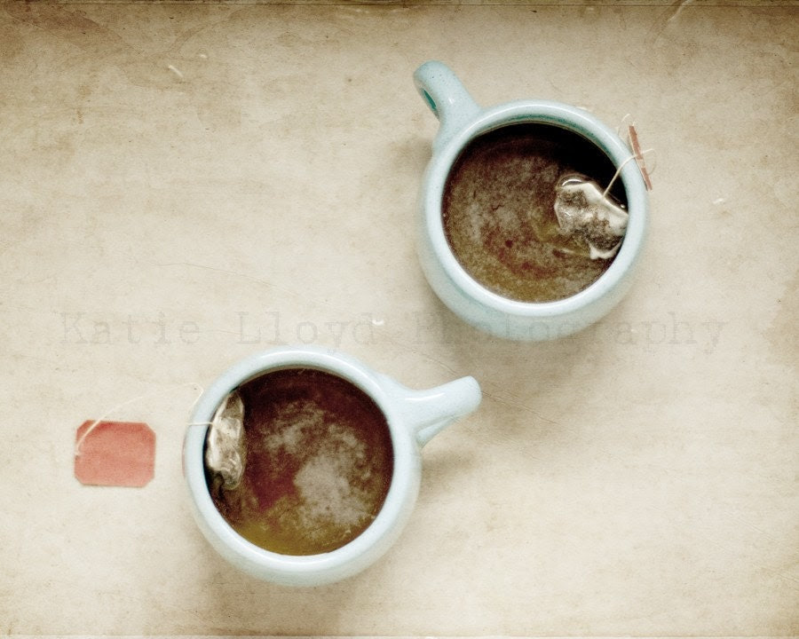 Tea for Two - 16x20 Fine Art Still Life Photography Print - Warm & Relaxing Home Decor Photo Great for a Friend or Housewarming Gift - KatieLloydPhoto