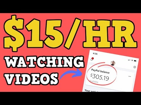 Earn $15 Hour Watching Videos Online Free PayPal Money - Make Money Online