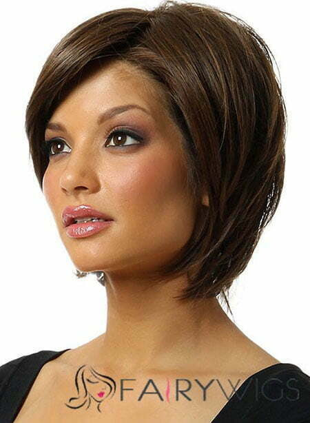 Side View of Bouncy Bob Haircut with Long Edgy Bangs
