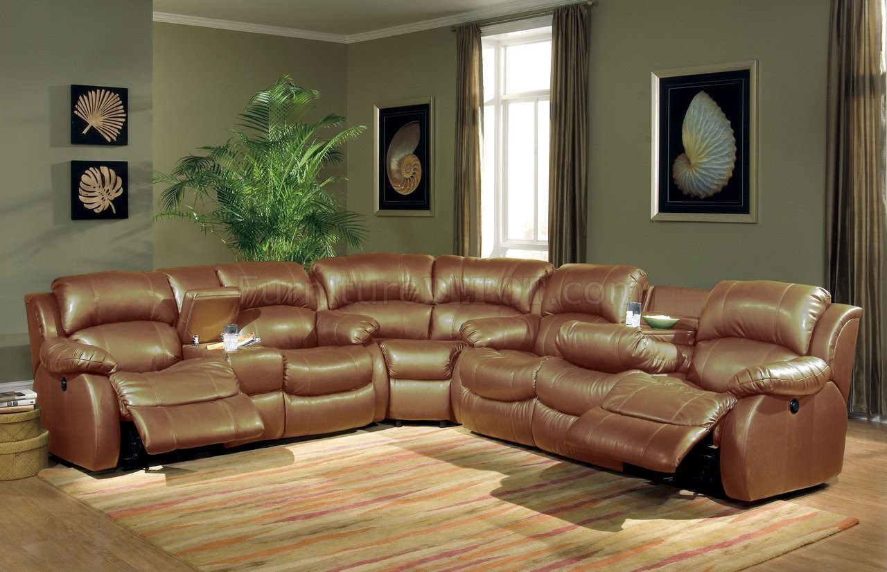 Leather Sectionals With Recliners Simple Home Decoration