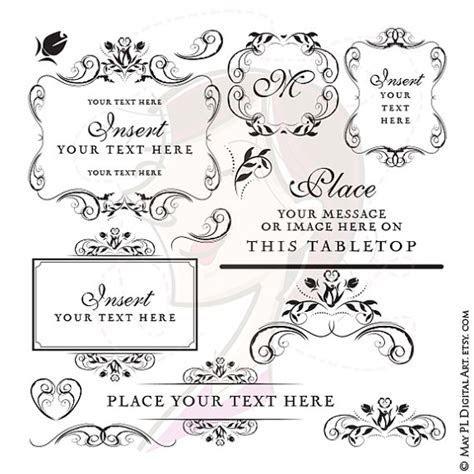 Instant Download Wedding Frames Monogram Floral Digital