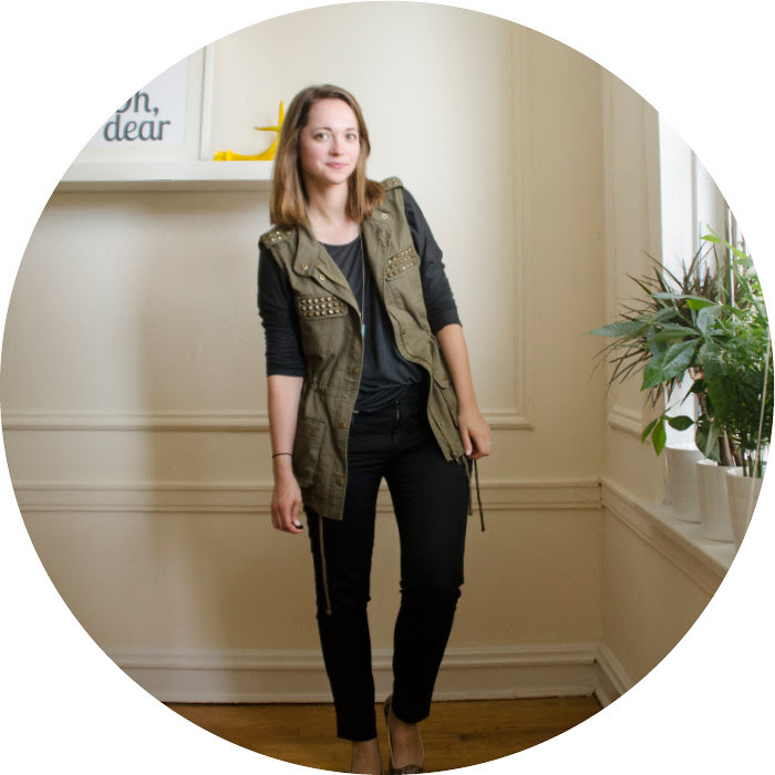 how to wear a vest to work, summer layers, work outfits, creative young professional, ootd, work outfit ideas, black vince pants, olive utility vest, cos tee