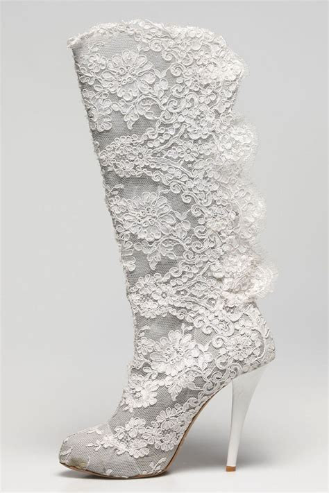 1000  ideas about White Lace Heels on Pinterest   White
