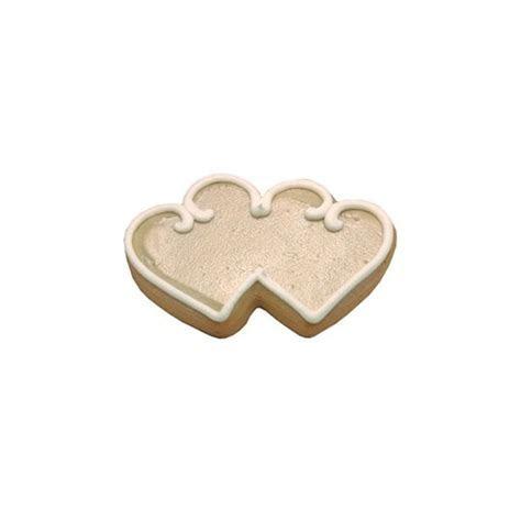 Wedding Double Heart Cookies   Cookies by Design