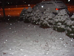 our first snow 11pm