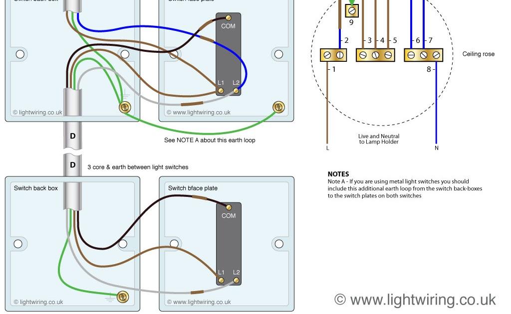 Light Switch Wiring Diagram Uk, 2 Way Switch Wiring Diagram Uk