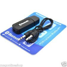 USB Bluetooth Stereo Music Receiver 3.5mm Adapter Dongle For Speakers Car MP3