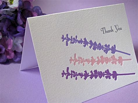 Lavender Flowers Thank You Cards   Digby & Rose   Digby