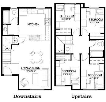 townhouse floor plans floor plans   town house
