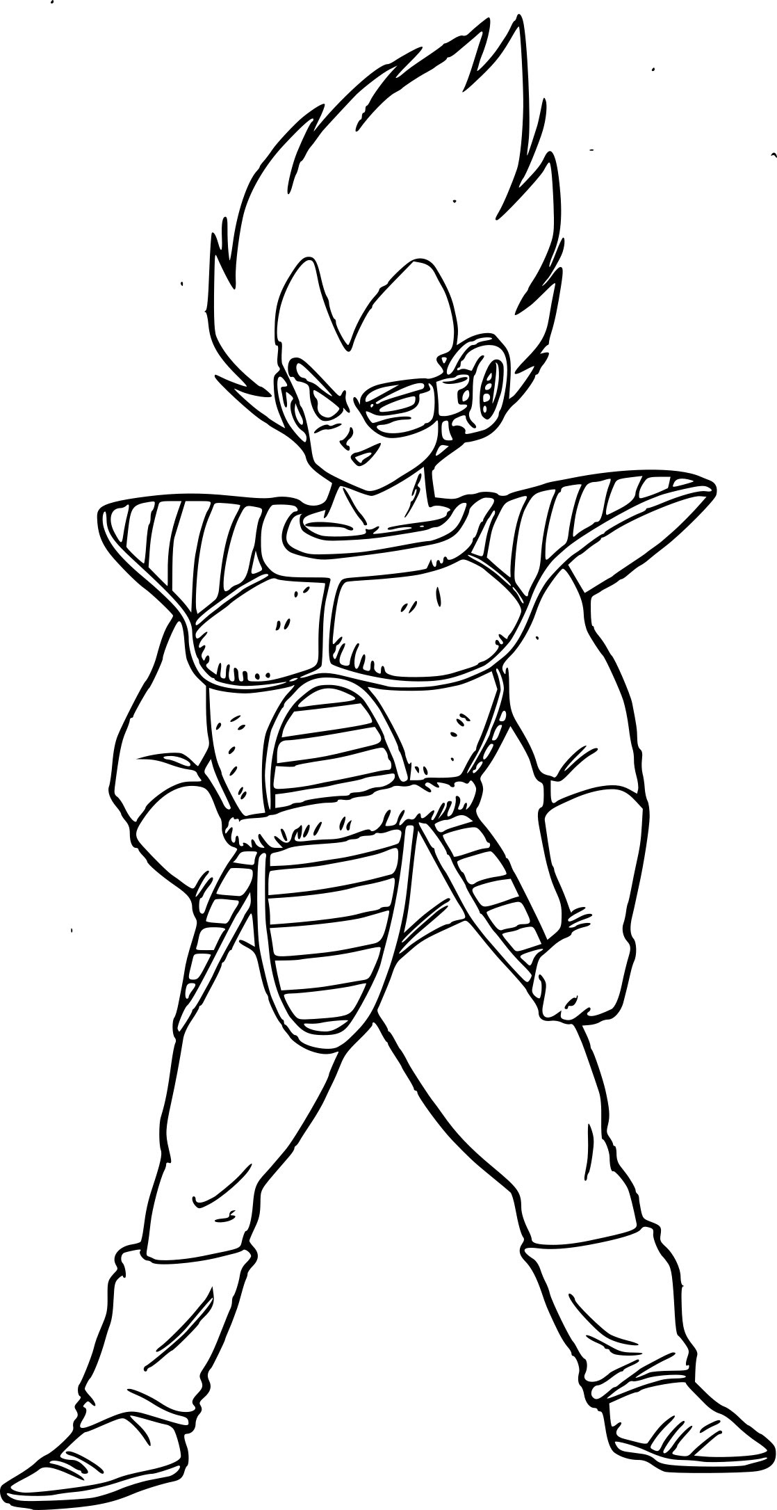 Coloriage Dragon Ball Vegeta à Imprimer Sur Coloriages Info