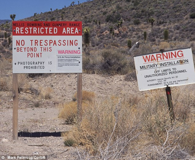Warnings: Signs make clear the dangers of trying to reach Area 51
