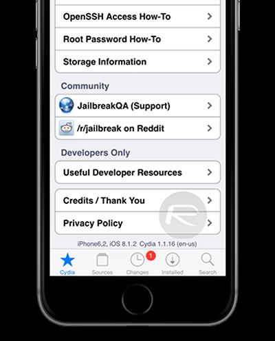 TaiG Cydia iOS 8.1.2