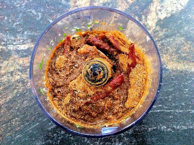 Curry Ingredients in Blender