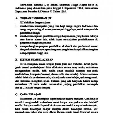 Contoh Laporan Pbk Universitas Terbuka Seputar Laporan