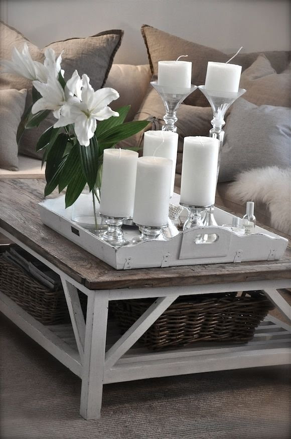 Lots of Candles - 53 Coffee Table Decor Ideas That Don't ...
