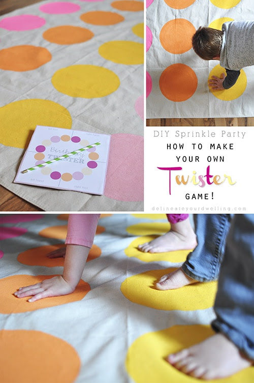 Customized DIY Twister Game, Delineateyourdwelling.com