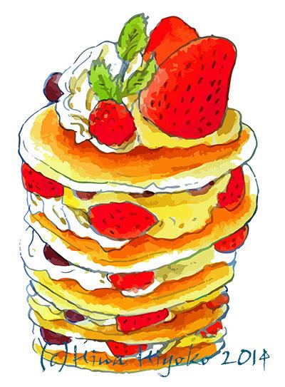 Gallery Hina Hiyokos Illustration 食べ物や雑貨水彩4c