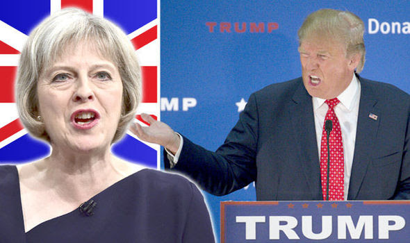 Image result for Trump Theresa May