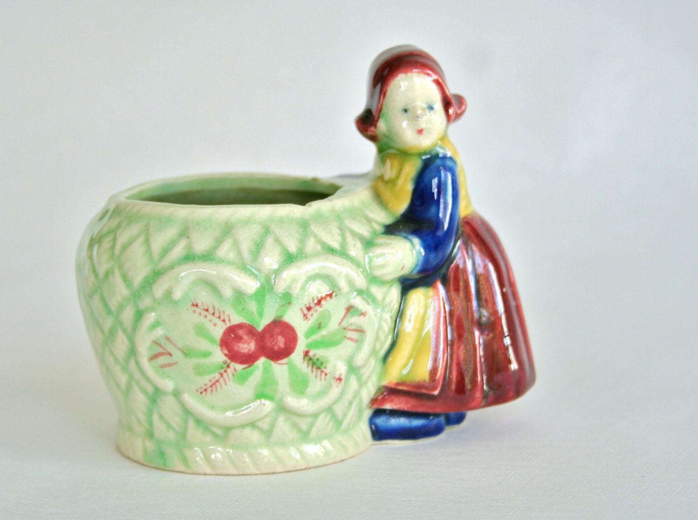 Vintage Girl Planter 1/2 price