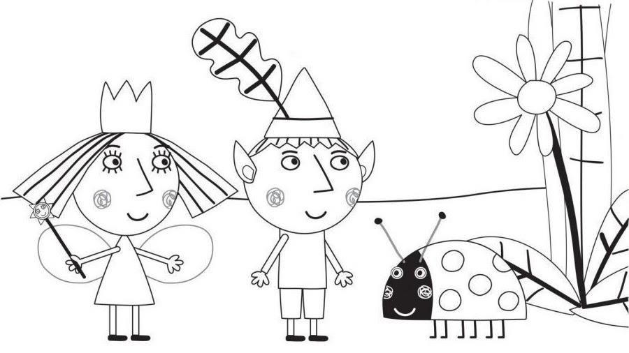 ben und holly malvorlagen download  ein bild zeichnen