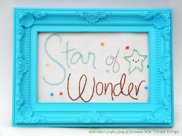Star of Wonder Embroidery Pattern