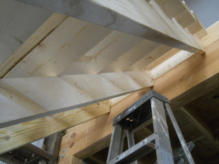 Top Part of Barn Loft Stairs Steps Center Bracing