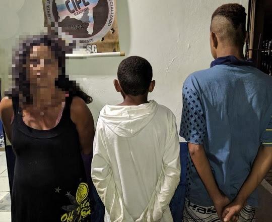 Mulher é presa suspeita de estuprar garoto de 12 anos | Foto: CIPE Sudoeste/ Polícia Militar