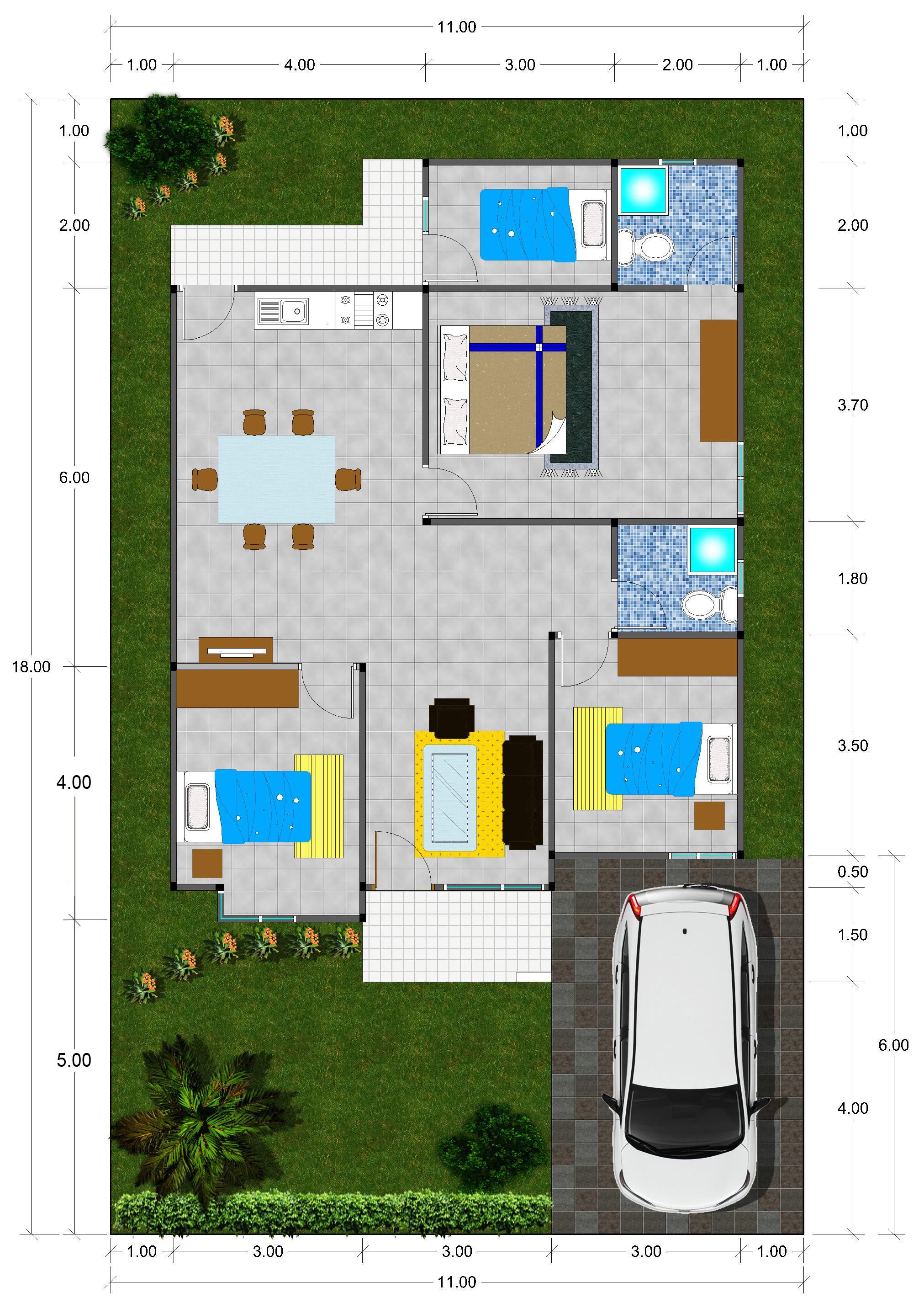 Desain Rumah Minimalis 100 Meter 2 Lantai USA Momo