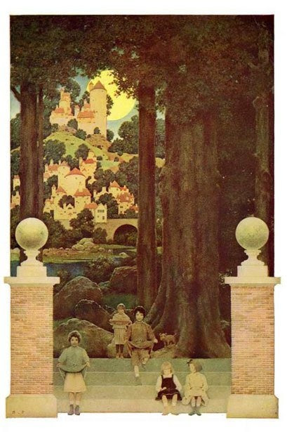 """Sugarplum Tree,"" by Maxfield Parrish"