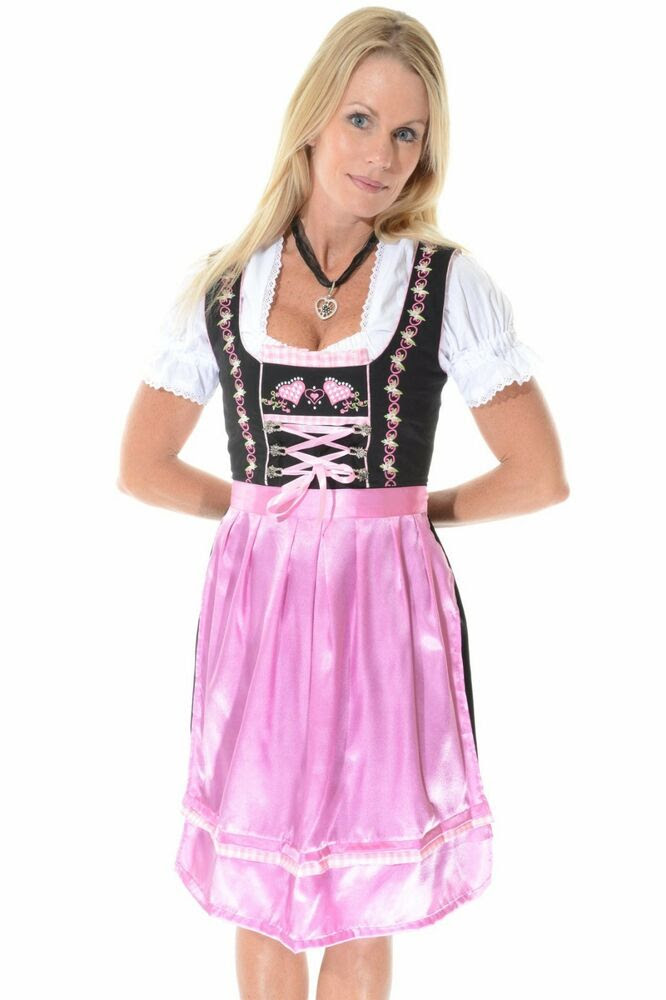 3pcs authentic oktoberfest dirndl german bavarian dress
