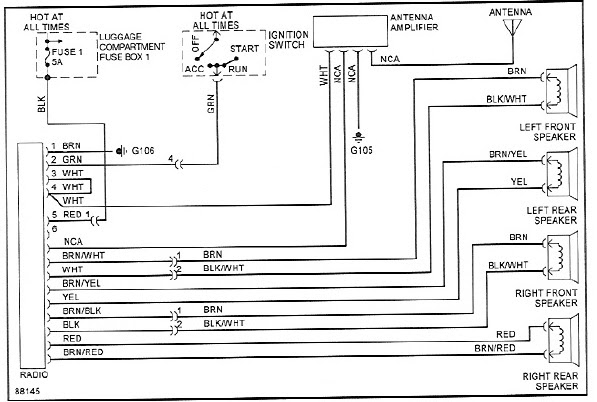 looking for a wiring diagram for a 87 stereo - Pelican ...