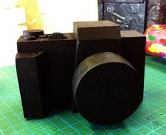Blue foam camera